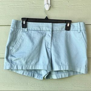 J. Crew Women's Chinos Shorts Light Blue Size 10